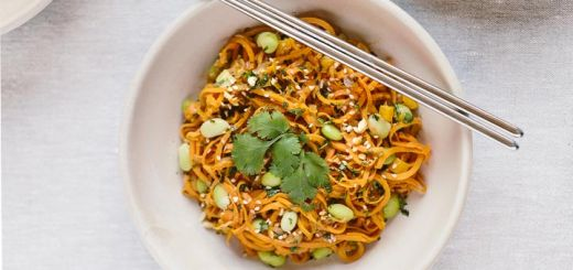 "Vegan Pad Thai With Sweet Potato ""Noodles"""
