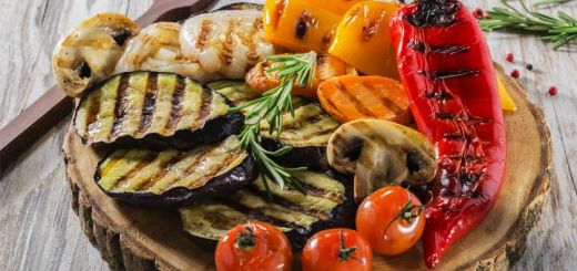 Grilled Vegetables With A Basil Vinaigrette
