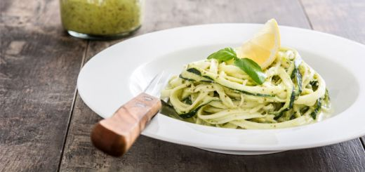 Lemon Zucchini Noodles With Avocado & Cashew Cheese