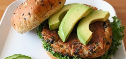 Black Bean Burgers with Lime Cilantro Lime Sauce
