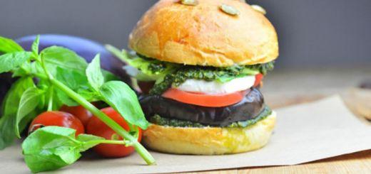 Hearty Eggplant Burger with Vegan Mayonnaise