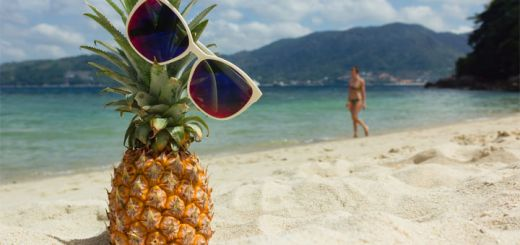 pineapple-on-beach