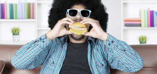 afro-man-burger