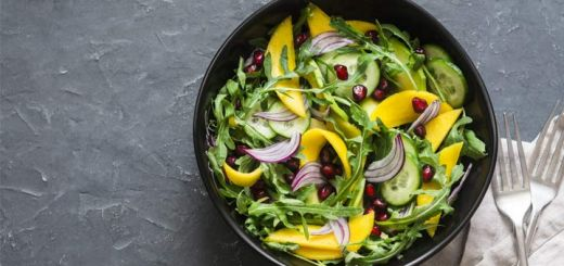 Tropical Arugula Salad With Mango & Avocado