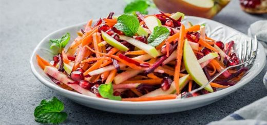 Matchstick Beet, Carrot, And Apple Salad