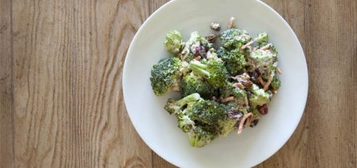 Skinny Broccoli And Grape Salad