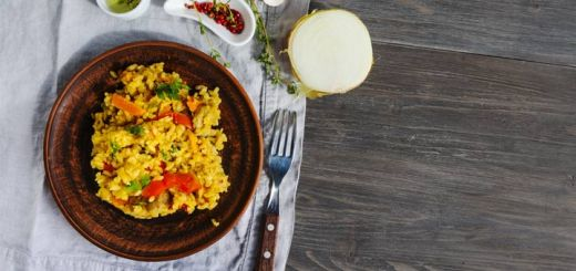 Vegetarian Paella With A Caribbean Flair