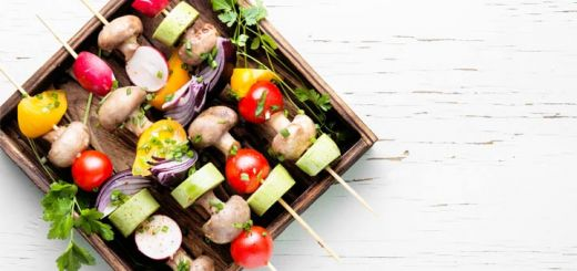 Vegetable Kebabs With A Balsamic Glaze