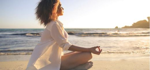 black-woman-meditation-beach