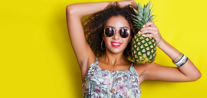 pretty-black-woman-pineapple