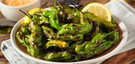 Sauteed Shishito Peppers With Lemon & Sea Salt