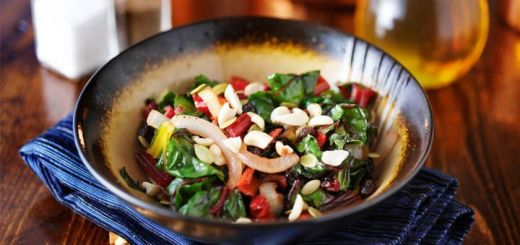 Antioxidant-Rich Rainbow Chard Salad