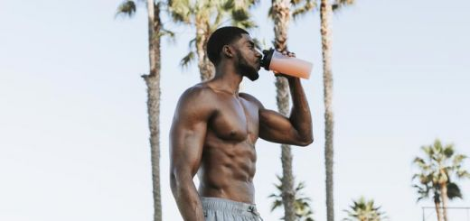muscular-black-men-drinking-electrolytes