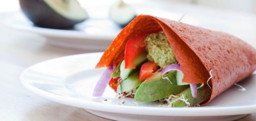 Sun-dried Tomato & Carrot Flax Wraps