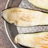 thin-eggplant-slices-cooking
