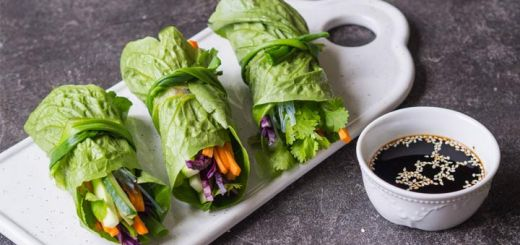 Crunchy Raw Romaine Wraps