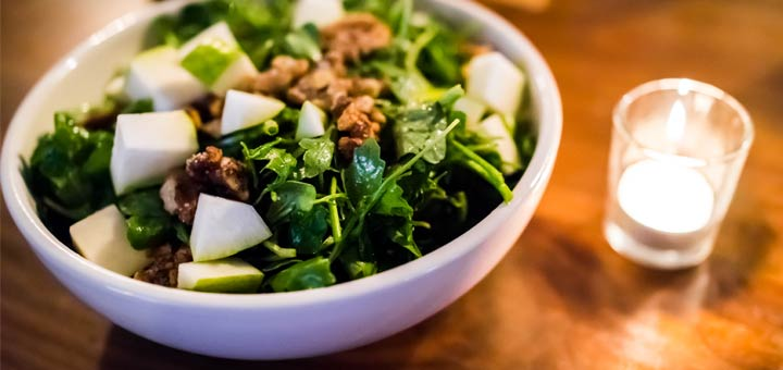 Apple And Arugula Salad With A Cider Vinaigrette