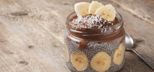 Chocolate Banana Chia Seed Pudding