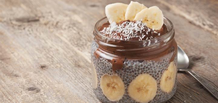 Chocolate Banana Chia Seed Pudding