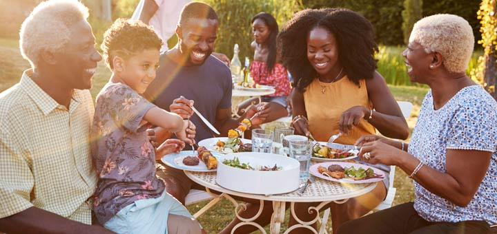 black-family-outdoor-meal