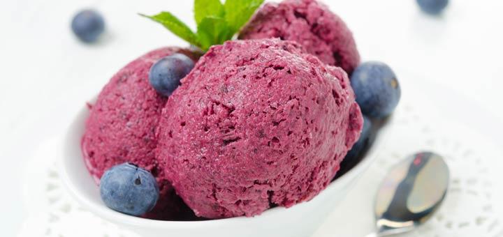 Raw Vegan Blueberry Ice Cream