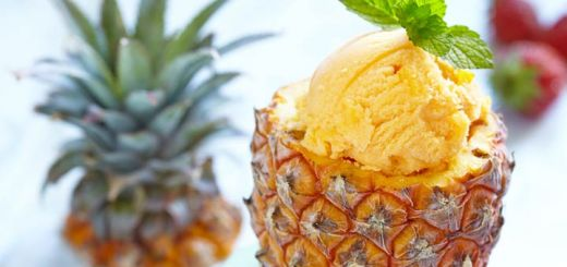 Healthy Pineapple Ice Cream