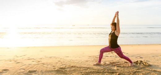 yoga-woman-on-beach