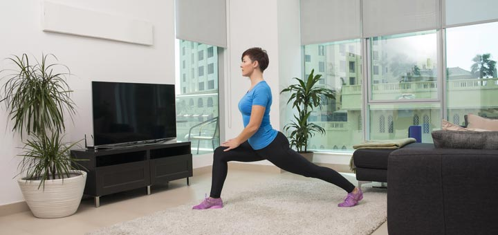lunging-woman-in-front-of-tv