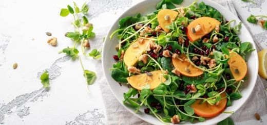 Fall Into Flavor With This Arugula Persimmon Salad