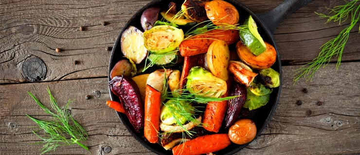 Autumn Roasted Vegetables With Apples & Pecans