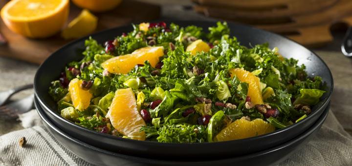 Seasonal Pomegranate Kale Salad