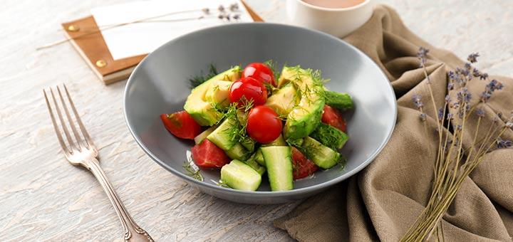 Tomato, Cucumber & Avocado Salad