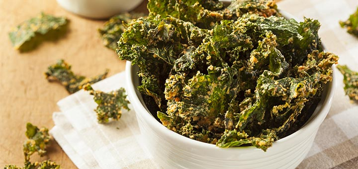Dehydrated BBQ Flavored Kale Chips