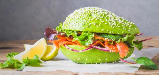 Raw Vegan Avocado Burger