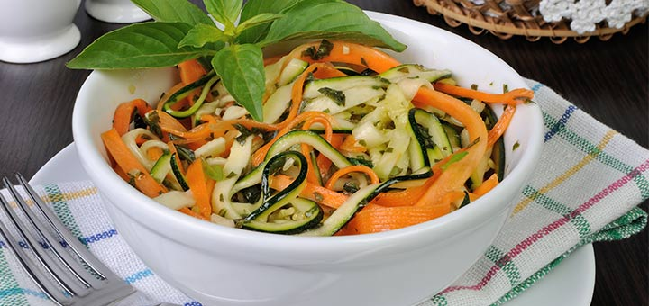 Zucchini And Carrot Noodle Salad