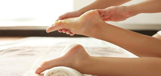 DIY Foot Scrub To Help Remedy Dry Or Cracked Heels