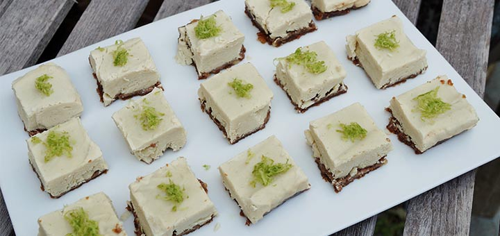 Raw Vegan Key Lime Pie Squares