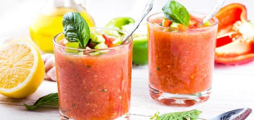 Almond Tomato Red Pepper Gazpacho