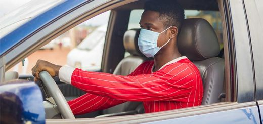 Should You Wear A Facial Covering While Driving?