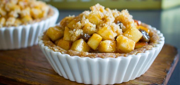 Raw Vegan Apple Pie Tarts