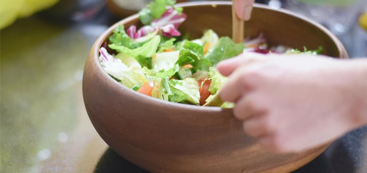 Crunchy Romaine Salad With An Almond Lime Dressing
