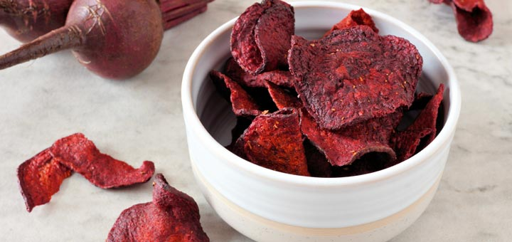 Raw Vegan Dehydrated Beet Chips