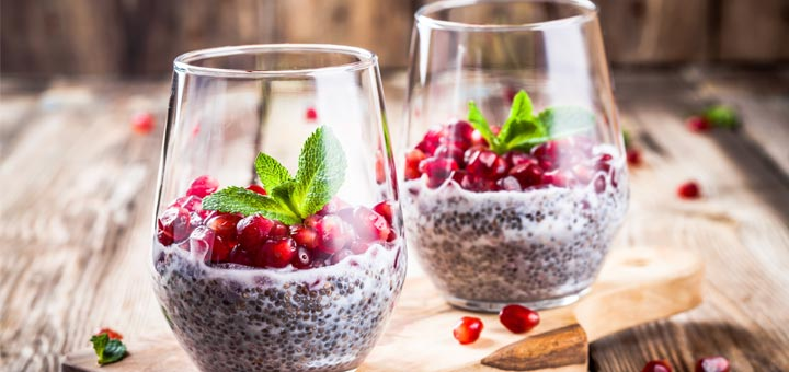 Pomegranate Chia Pudding