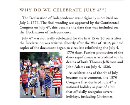 why do we celebrate the 4th