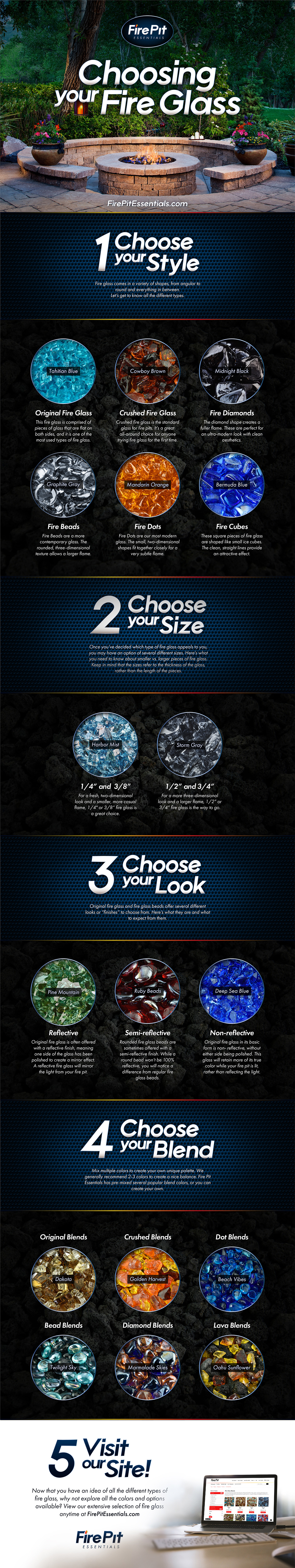 How to Choose Your Fire Glass Infographic