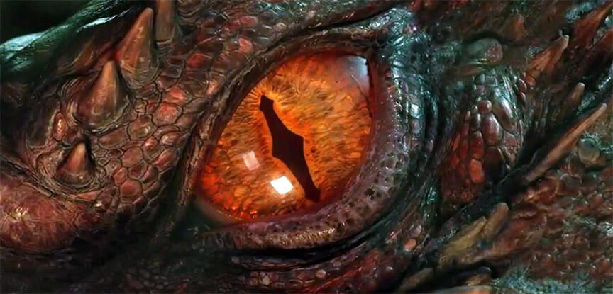 Dragon eye close up