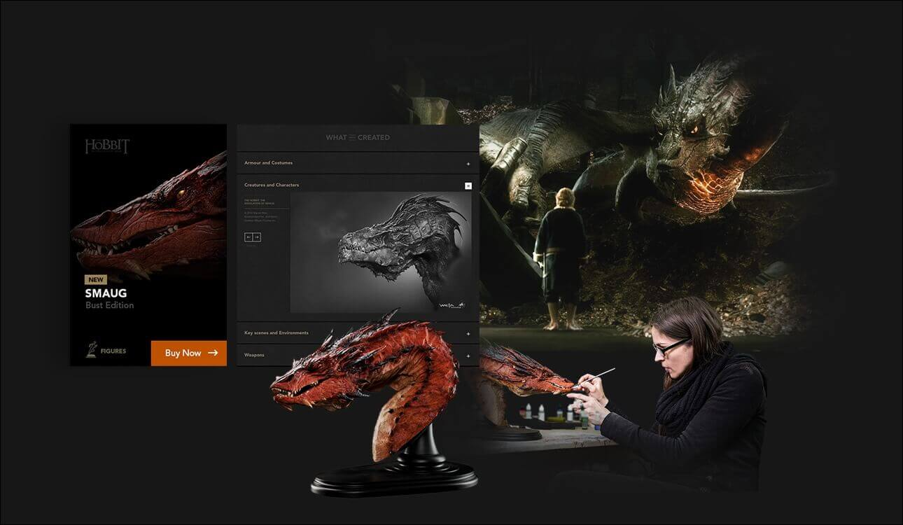Weta Workshop design system examples