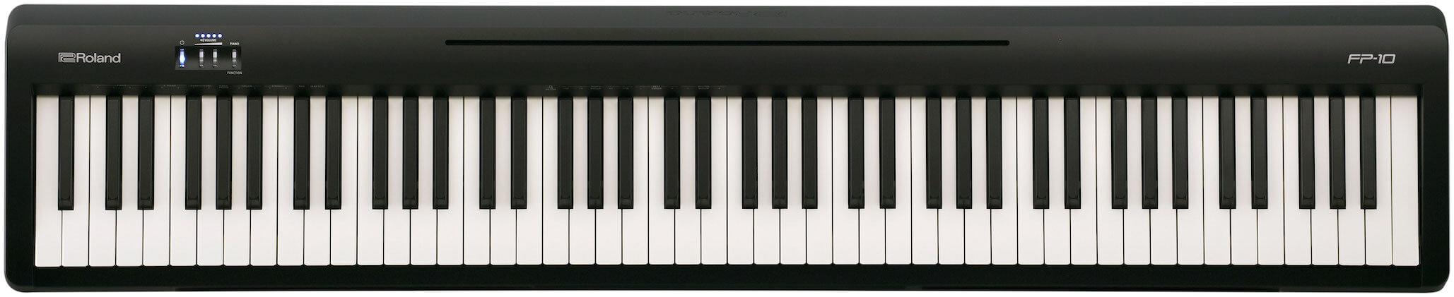 playing piano on a keyboard