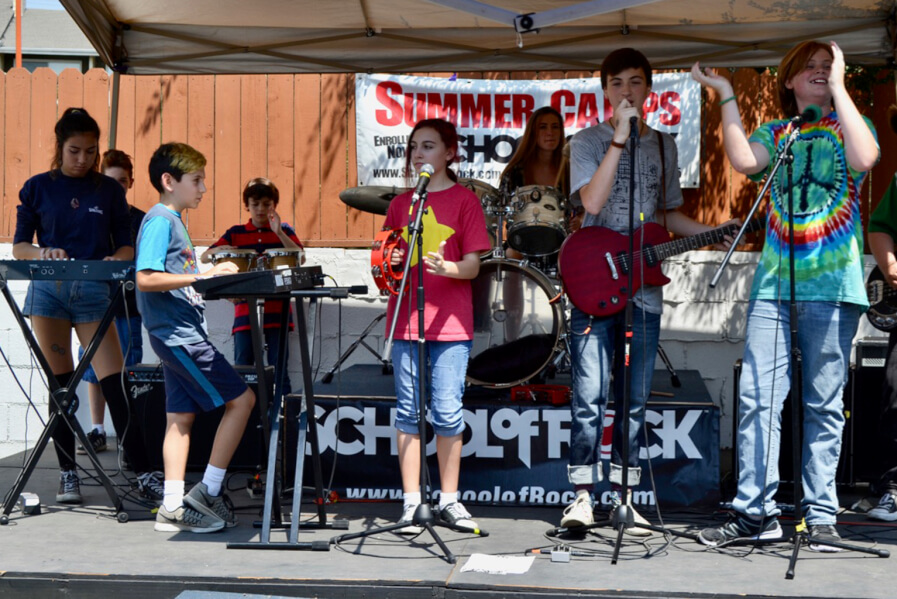 band performing, perform in a band, join a band, all skill level band, guitars, bassists, drums, singer, music lessons
