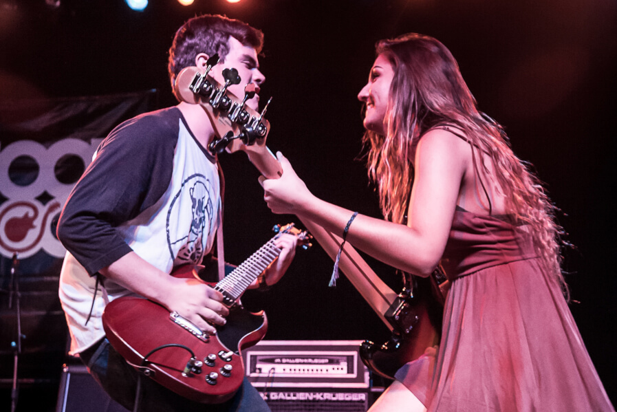 Learn how to play on stage with others at our music camp